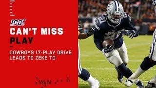 Cowboys Strike First on Lengthy 17-Play TD Drive