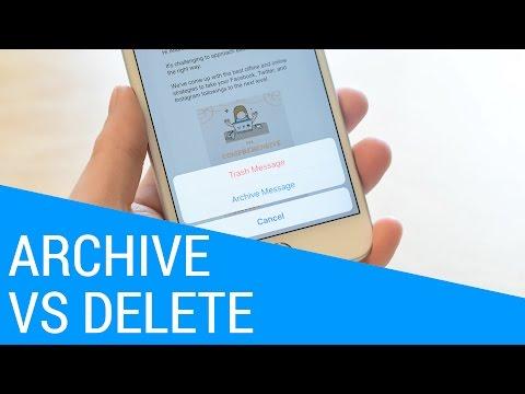 Quick Tips: Archive vs Delete