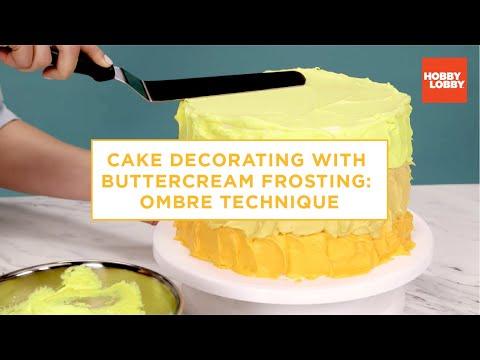 Cake Decorating: Buttercream Ombre Technique