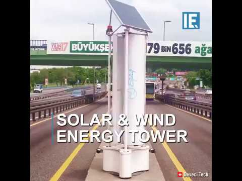 These turbines can harness the wind generated by passing busses to generate energy