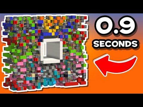 Fastest 6x6 Seamless Piston Door (0.75s Opening)