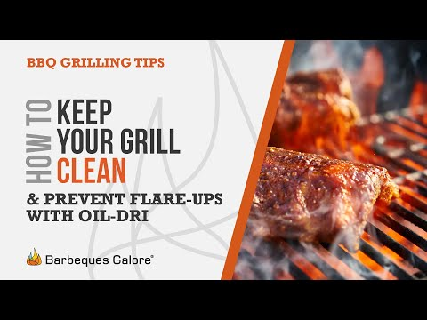 How to keep your grill clean and prevent flare-ups with Oil-Dri