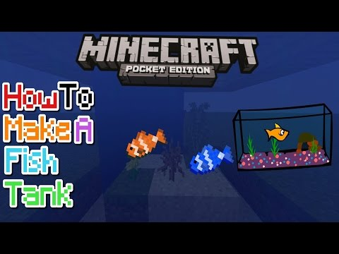 HOW TO MAKE A FISH TANK IN MCPE 1.1/1.0.8/1.0.7!! | MCPE CREATION | NO MODS