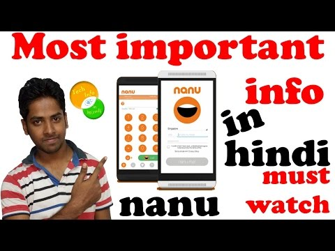 Nanu app make free calls even bad connection | Explained in hindi [info#9]