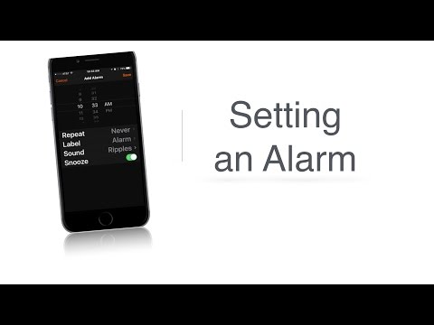iFocus Setting an Alarm - Apple Accessibility