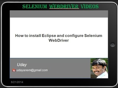 [Selenium WebDriver Videos]: How to install Eclipse and configure Selenium WebDriver