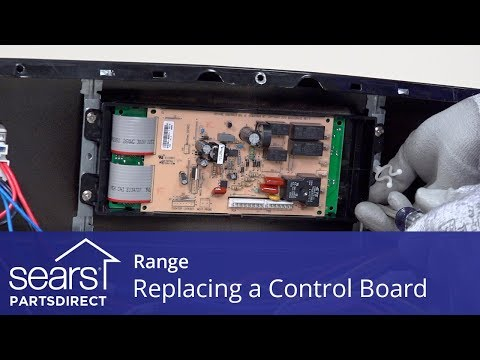 Replacing a Range Oven Control Board