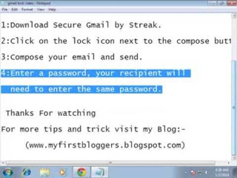 How To send encrypted or Passward Protected Email using Gmail (New cool trick)