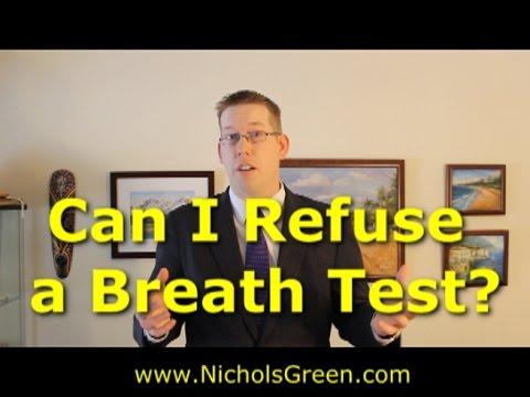 Can I refuse a preliminary breath test (PBT)?