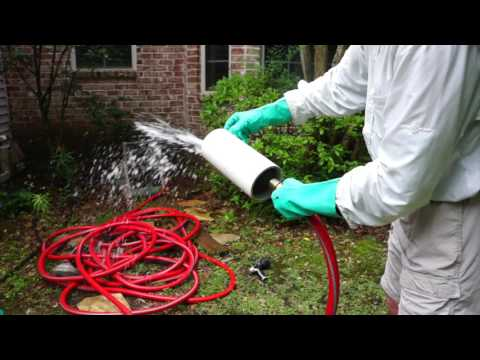 Water Bladder Drain Pipe Cleaner Demonstration