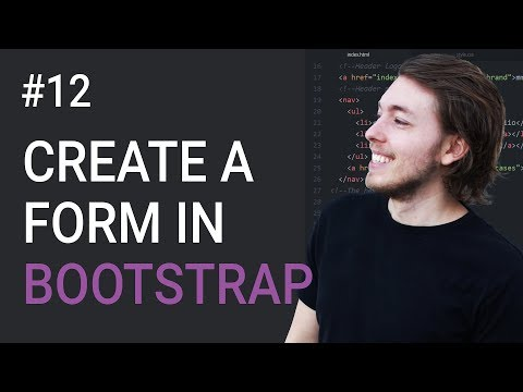 12: Create a form using Bootstrap 3 - Learn Bootstrap 3 front-end programming