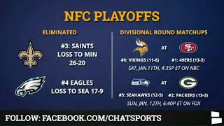 NFL Playoff Picture, Schedule, Bracket, Matchups, Dates/Times For 2020 NFC Playoffs Divisional Round