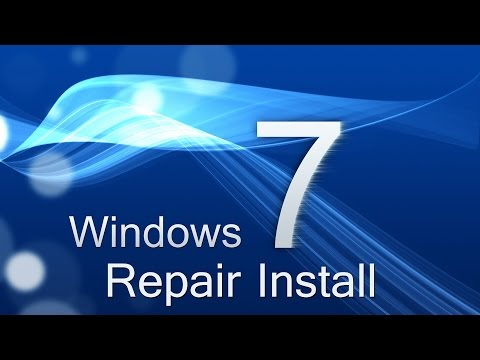 Windows - Repair Install Without CD Disc (Windows 7 Home Premium, Ultimate, Professional, Basic)