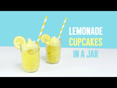 Lemonade Cupcakes in a Jar by Yummy Paper
