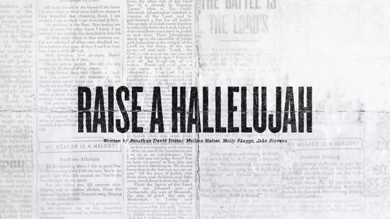 Raise A Hallelujah (Official Lyric Video) - Bethel Music, Jonathan & Melissa Helser | VICTORY