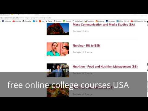 free online college courses USA