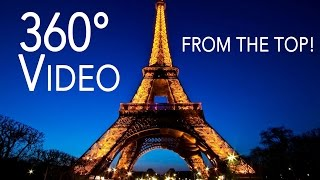 360° Degree Video On Top Of Eiffel Tower In Paris!! Virtual Reality Tour of Paris Eiffel Tower