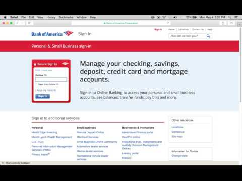 Bank of America Online Banking Login Instructions