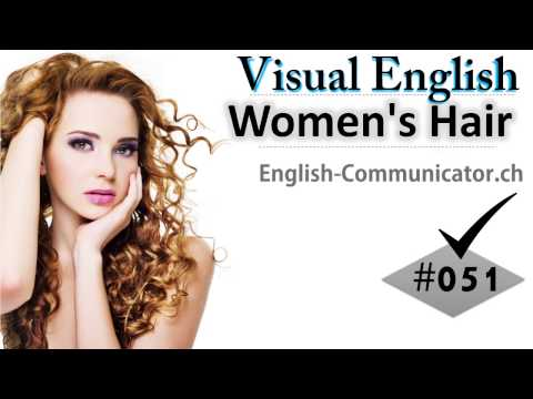 #051 Visual English Language Learning Practical Vocabulary Women's Hair Barber Salon Beutician Beuty