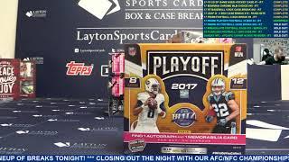 2017 Panini Playoff Football Hobby 10 Box Break #4 – RANDOM TEAMS