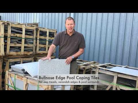 Pool Coping Tiles Granite Light Grey