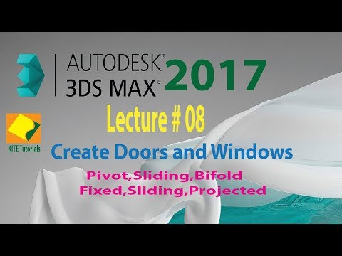 Lecture  # 08| How to create Doors and Windows in| 3ds MAX