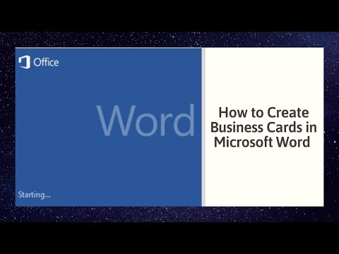 How to Create Business Cards in Microsoft Word 2010