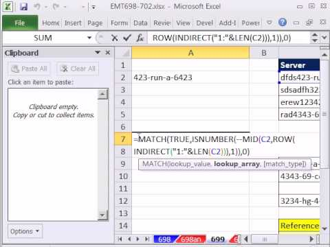 Excel Magic Trick 699: VLOOKUP Mixed Number & Letter Partial Text Extract For Lookup Value