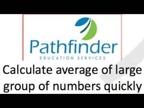 Calculate average of large groups of numbers quickly