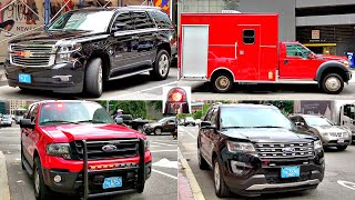 Unmarked Boston Fire Trucks Compilation - Commissioner Finn's Chevy Tahoe LTZ