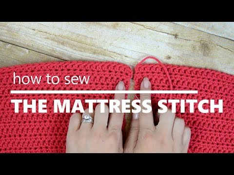 How to Sew two pieces of Crochet Using the Mattress Stitch