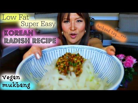 Low-Fat KOREAN RADISH RICE • Mukbang & Recipe