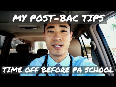 MY POST-BAC TIPS | TIME OFF BEFORE PA SCHOOL | ACTOR SCENARIO