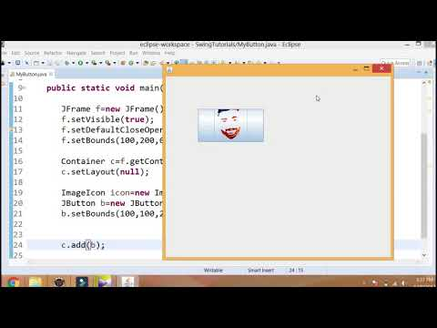 Java Swing(urdu/hindi)-13-  JButton-02-  Apply Image On JButton And Changing Color