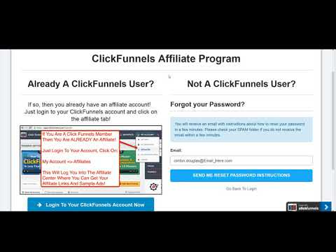 ClickFunnels Affiliate How to Reset Your Affiliate Area Password