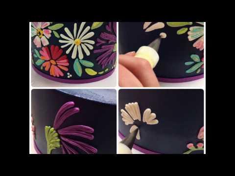Buttercream floral patterns