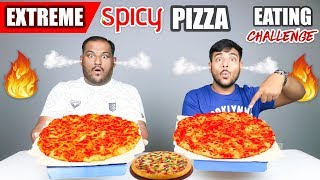 SPICY PIZZA EATING CHALLENGE | Pizza Eating Challenge | Pizza Eating Competition | Food Challenge
