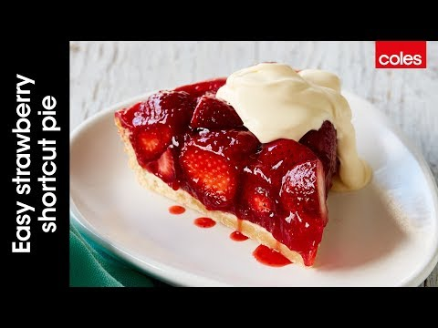 This is how to make easy strawberry shortcut pie