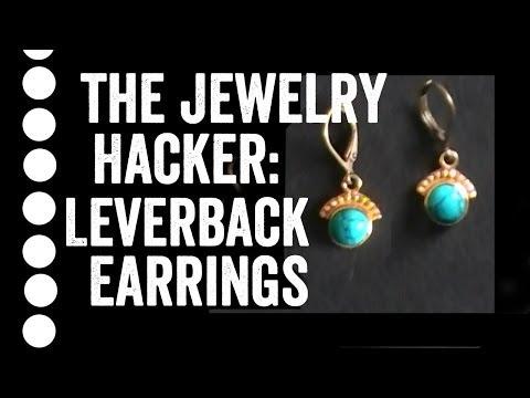 Beginner Jewelry Lesson: Leverback Earrings
