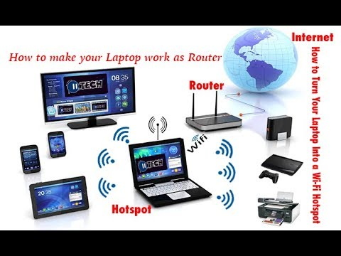 how to make your computer work as router