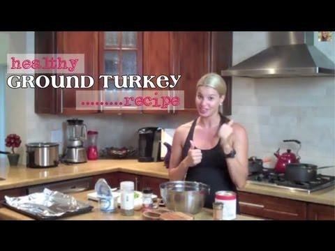 Healthy Ground Turkey Recipe-Meatballs