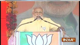 PM Modi Takes a Jibe at Akhilesh Yadav over