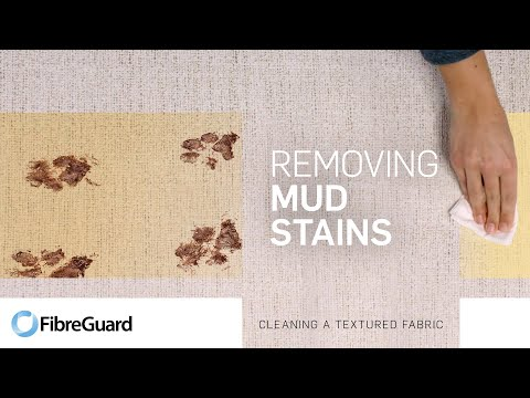 Removing mud stains from textured fabric