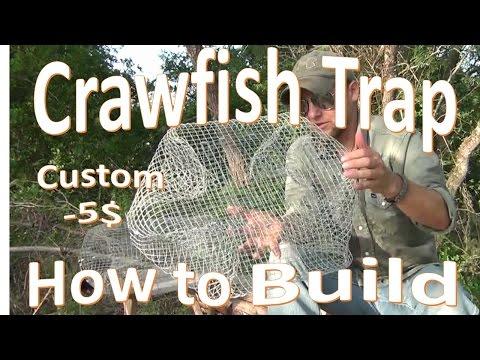 DIY Crawfish Trap Build  -My Custom -5$ Design-