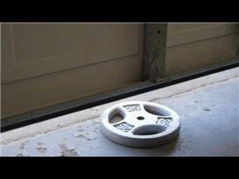 Garage Door Help : How to Adjust the Tension on a Garage Door Opener