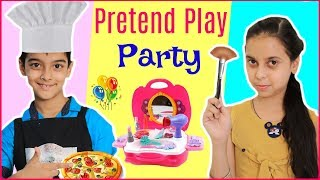 Dhruv & Parul PRETEND PLAY Party - Doctor, Chef, Beauty Parlour   #Kids #RolePlay #Fun #ToyStars