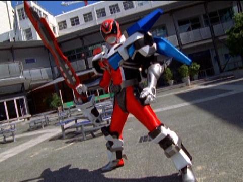 Sky the Red Ranger Morph and Battle (Power Rangers S.P.D.)
