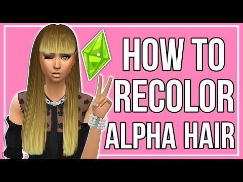 The Sims 4: How to Make Custom Content Hair Recolors | Alpha Hairs + Ombre Texture
