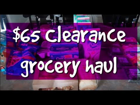$65 One Week Clearance Grocery Haul & Meal Plan