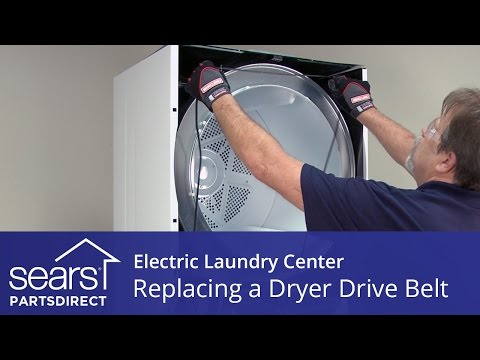 How to Replace an Electric Laundry Center Dryer Drive Belt (Kenmore, Frigidaire)